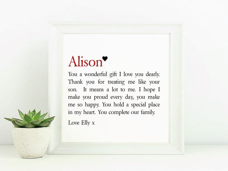 Stepmum Framed Personalised Poem - PureEssenceGreetings