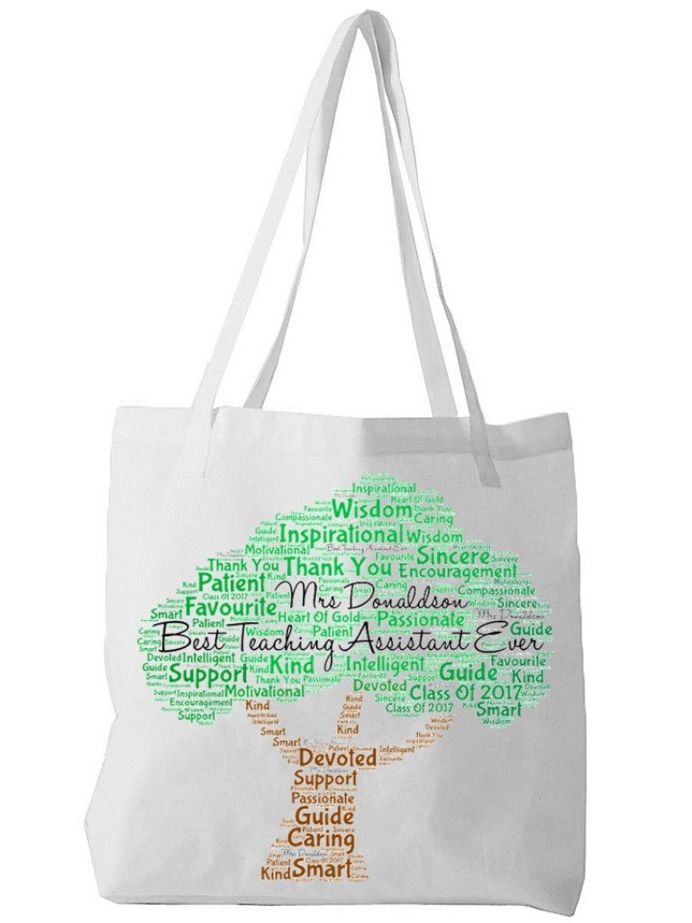 Personalised Teaching Assistant Word Art Bag - PureEssenceGreetings