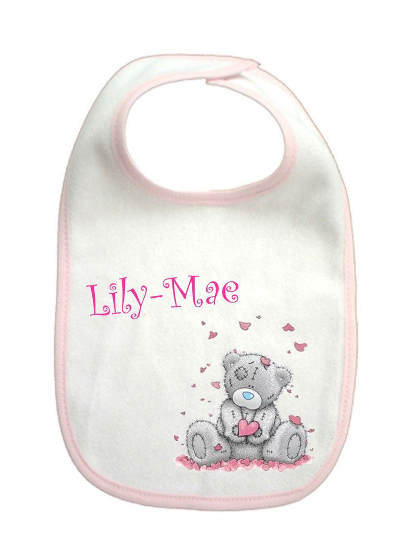 Personalised Baby Girl Bib