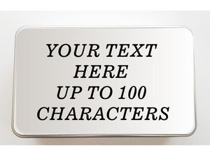 Personalised Keepsake Tin - Own Text. - PureEssenceGreetings