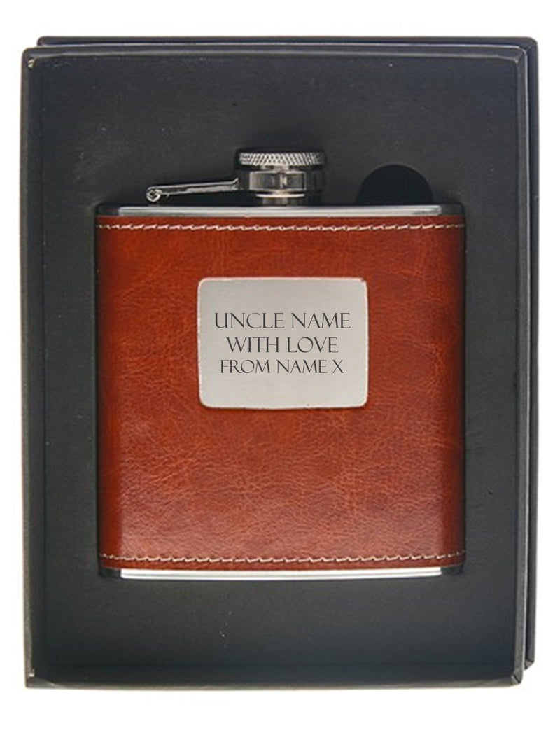 Uncle Personalised  Hip Flask
