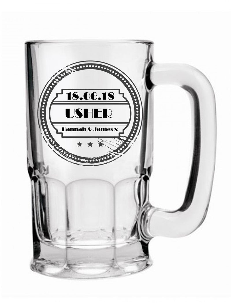 Personalised Beer Mug - Wedding Thank You Gifts