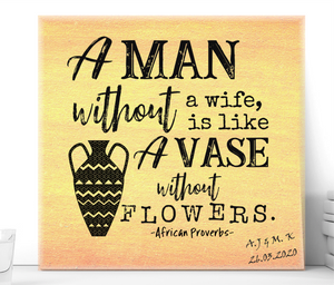 A Man Without a Wife Ceramic Plaque - PureEssenceGreetings