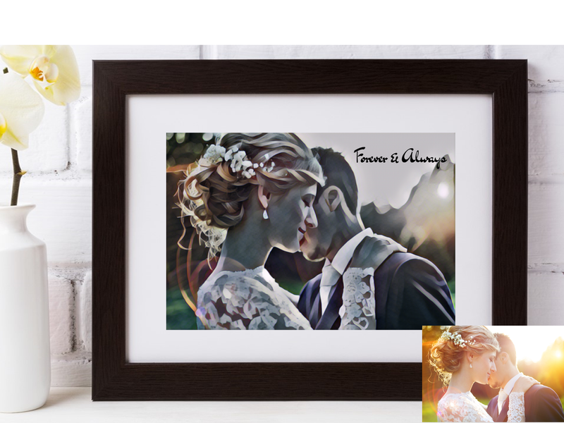 Personalised Wedding Photo | Studio Digital Artwork Design - PureEssenceGreetings