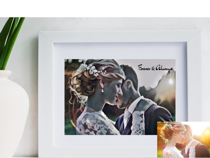 Personalised Wedding Photo | Studio Digital Artwork Design