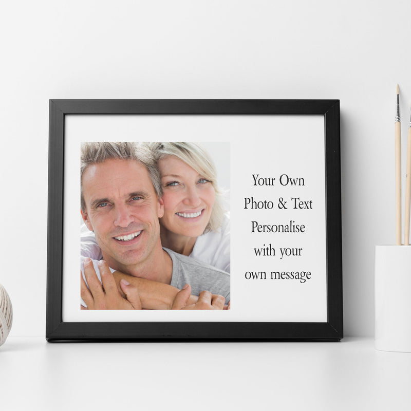 Framed Photo Print - Own Image & Text