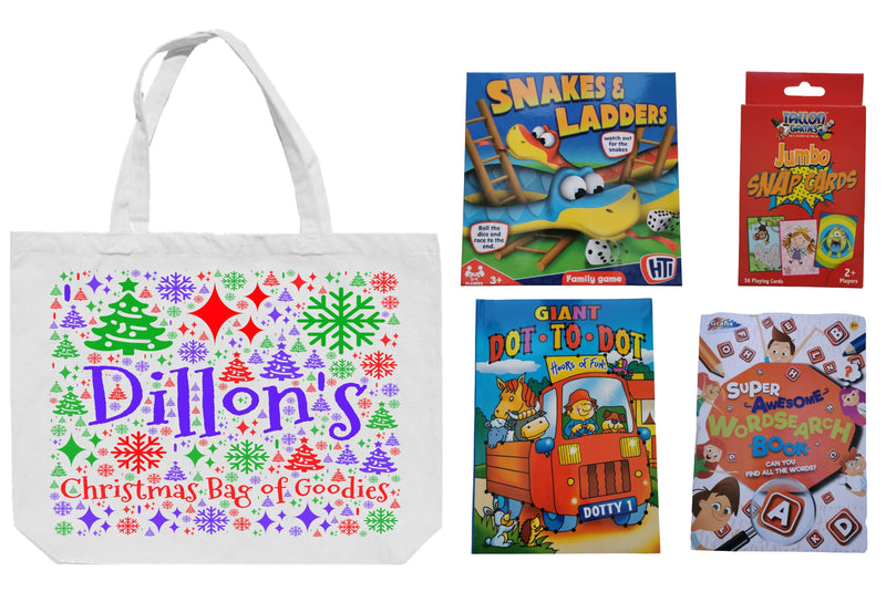 Kiddies Personalised Christmas Bag | Bundle of Goodies