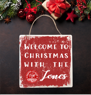 Welcome Christmas Personalised Plaque