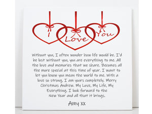 Personalised Christmas Love Card
