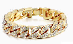 18K Cuban bracelet ICED OUT