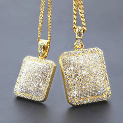 18K Full ICED OUT Pendant chain
