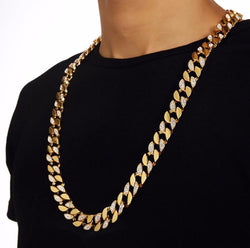 18k Gold plated Iced out Cuban Chain
