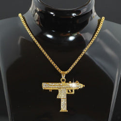 18K Gold Uzi - ICED OUT