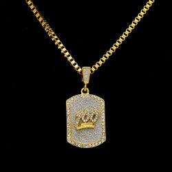 18k gold plated HUNNET ICED OUT