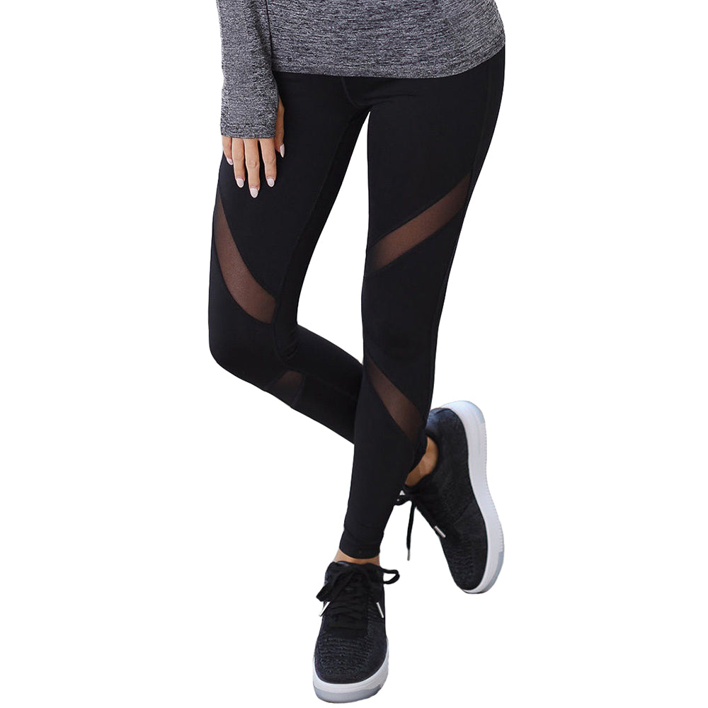Sexy Mesh Fitness Sports Leggings