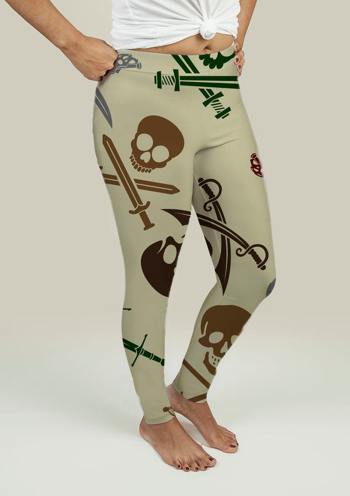 Leggings with Skull and Swords