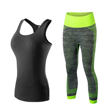Yel Hot Logo Custom Running Set Vest Pants Sport Suit Fitness Tights Top Jogging Suits For Women Gym Tracksuit Yoga Sportswear