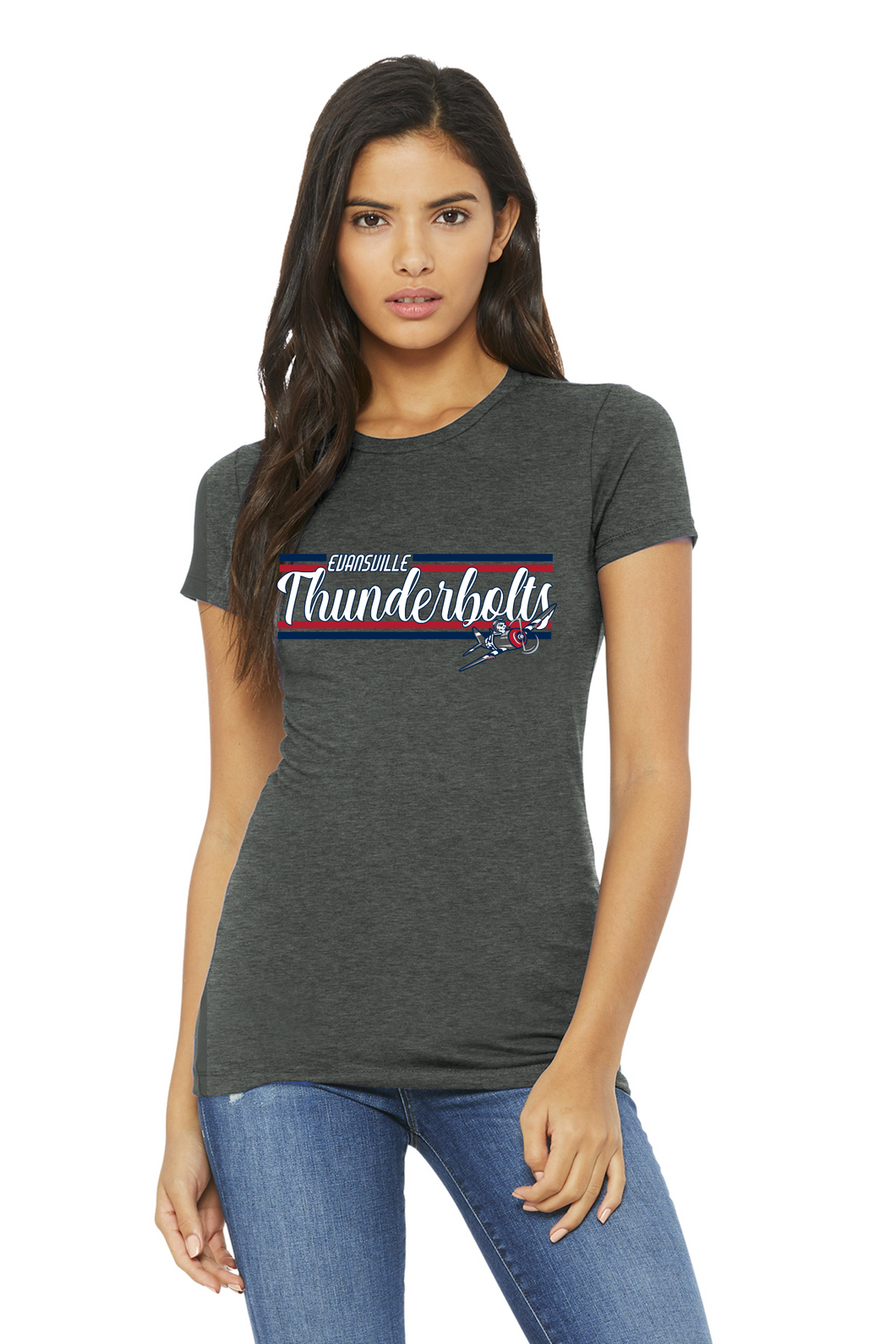 Evansville Thunderbolts- Ladies Tee