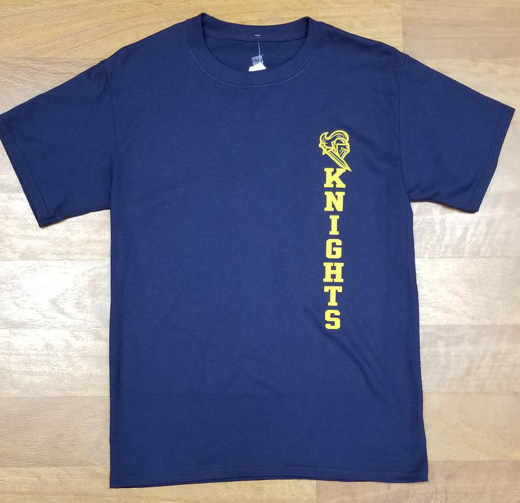 Castle Navy Hanes $10 Tees with Vinyl Logo