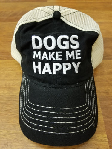 Dogs Make Me Happy Hat