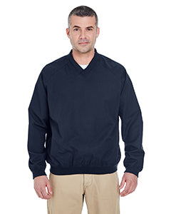 8926Prime UltraClub Adult Long-Sleeve Microfiber Crossover V-Neck Wind Shirt