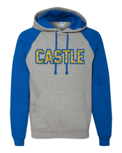 Two Tone Hoodie - w/Castle in Glitter