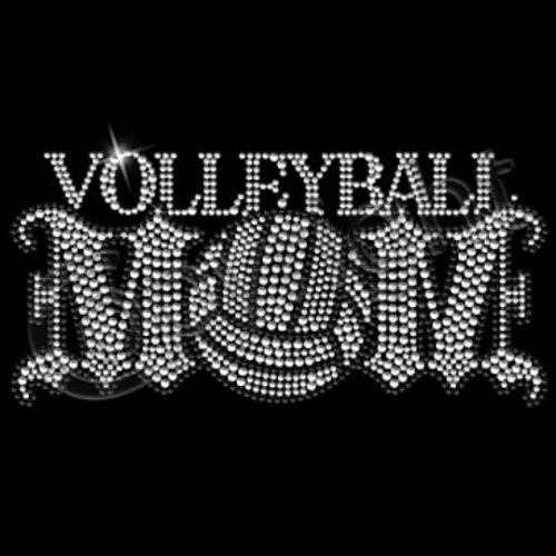 Ready to Press Transfer - Volleyball Mom Rhinestone