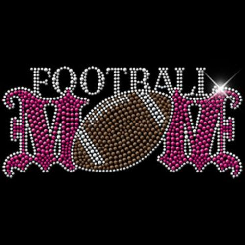 Ready to Press Transfer - Football Mom Rhinestuds