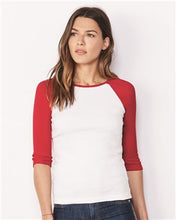 Bella + Canvas - Women's Baby Rib Three Quarter Sleeve Contrast Raglan Tee - 2000