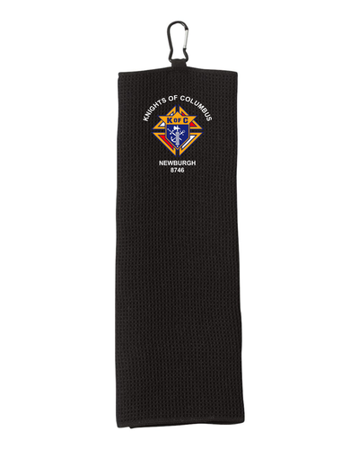 Fairway Golf Towel with embroidered  Knights of Columbus Logo