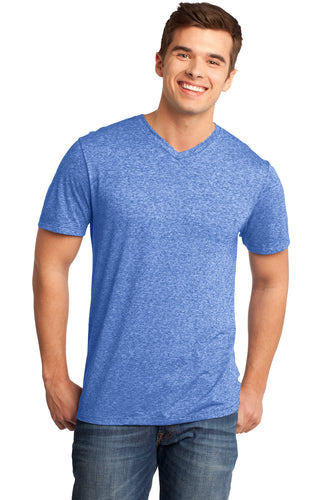 DT161 District® - Young Mens Microburn® V-Neck Tee with Castle Logo