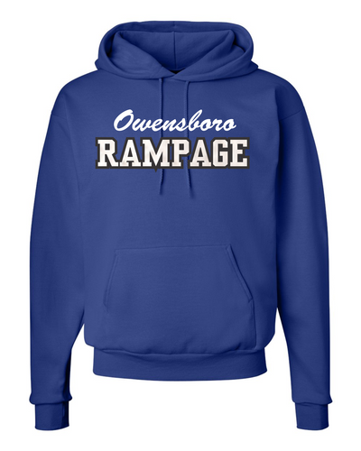 Rampage Hockey Embroidered Glitter Flake Hoodie