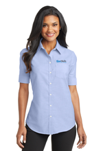 Gas Medix- Oxford Dress Shirt, Women's Short Sleeve