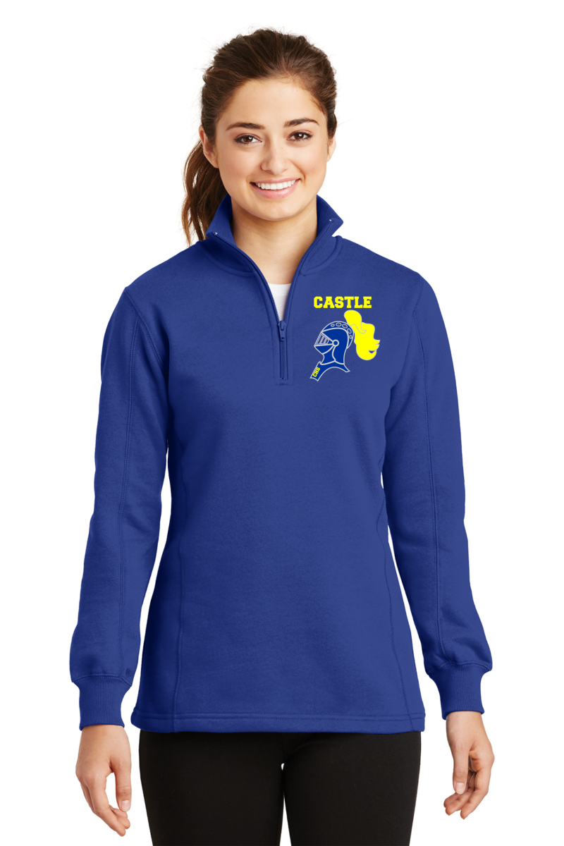 LST253 Sport-Tek® Ladies 1/4-Zip Sweatshirt - Castle w/Embroidered Knight Head/2
