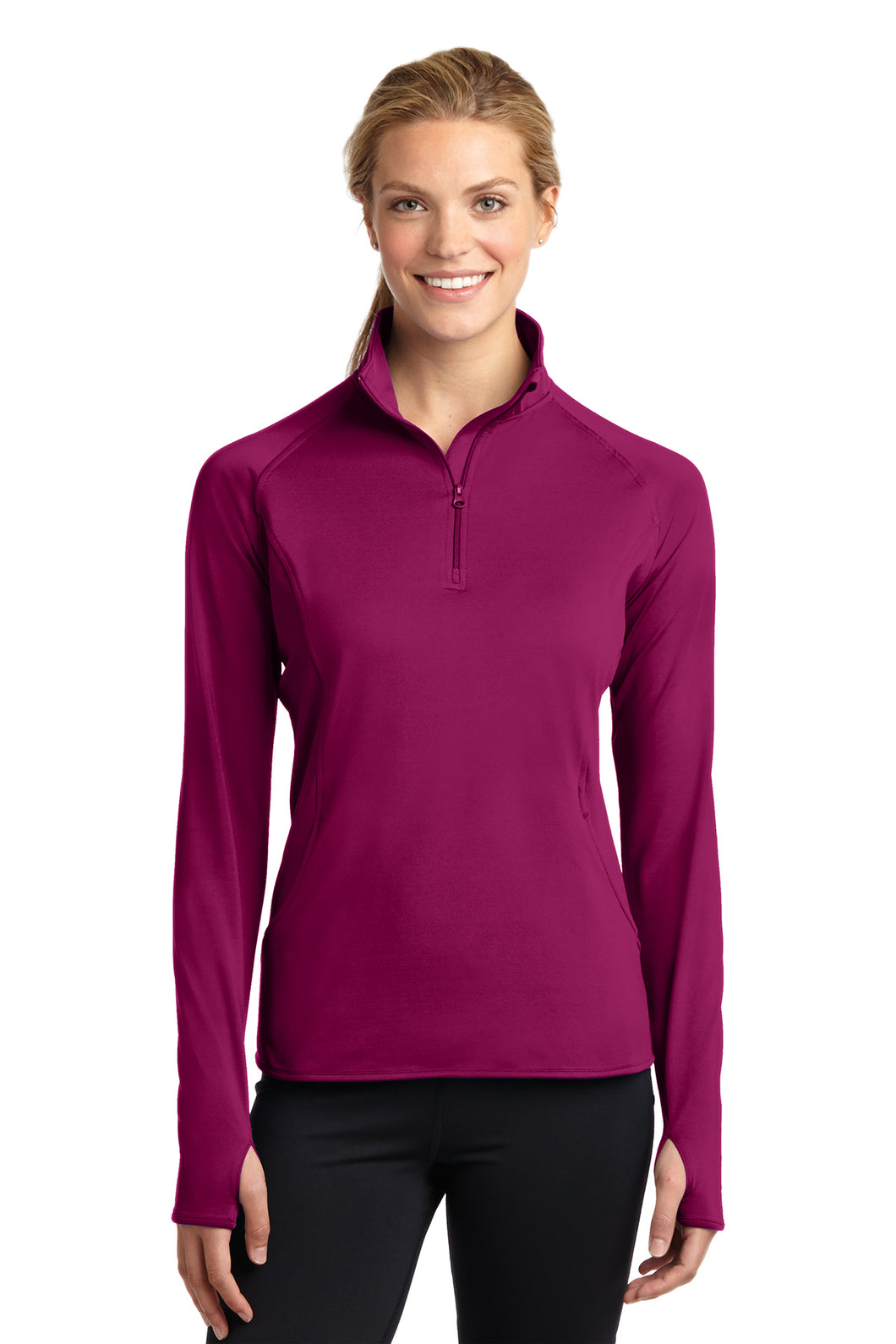 LST850 Sport-Tek® Ladies Sport-Wick® Stretch 1/2-Zip Pullover