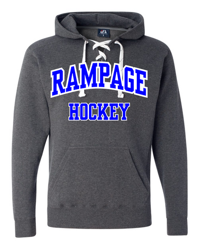 Rampage Hockey Lace-Up Hoodie Two Tone Twill
