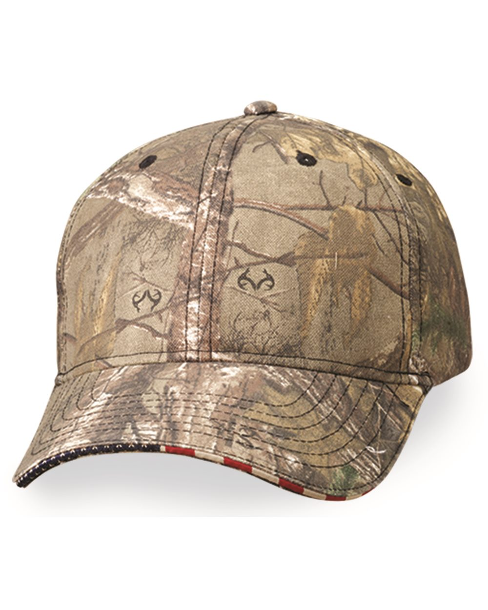 Outdoor Cap - American Flag Sandwich Camo Cap - USA350