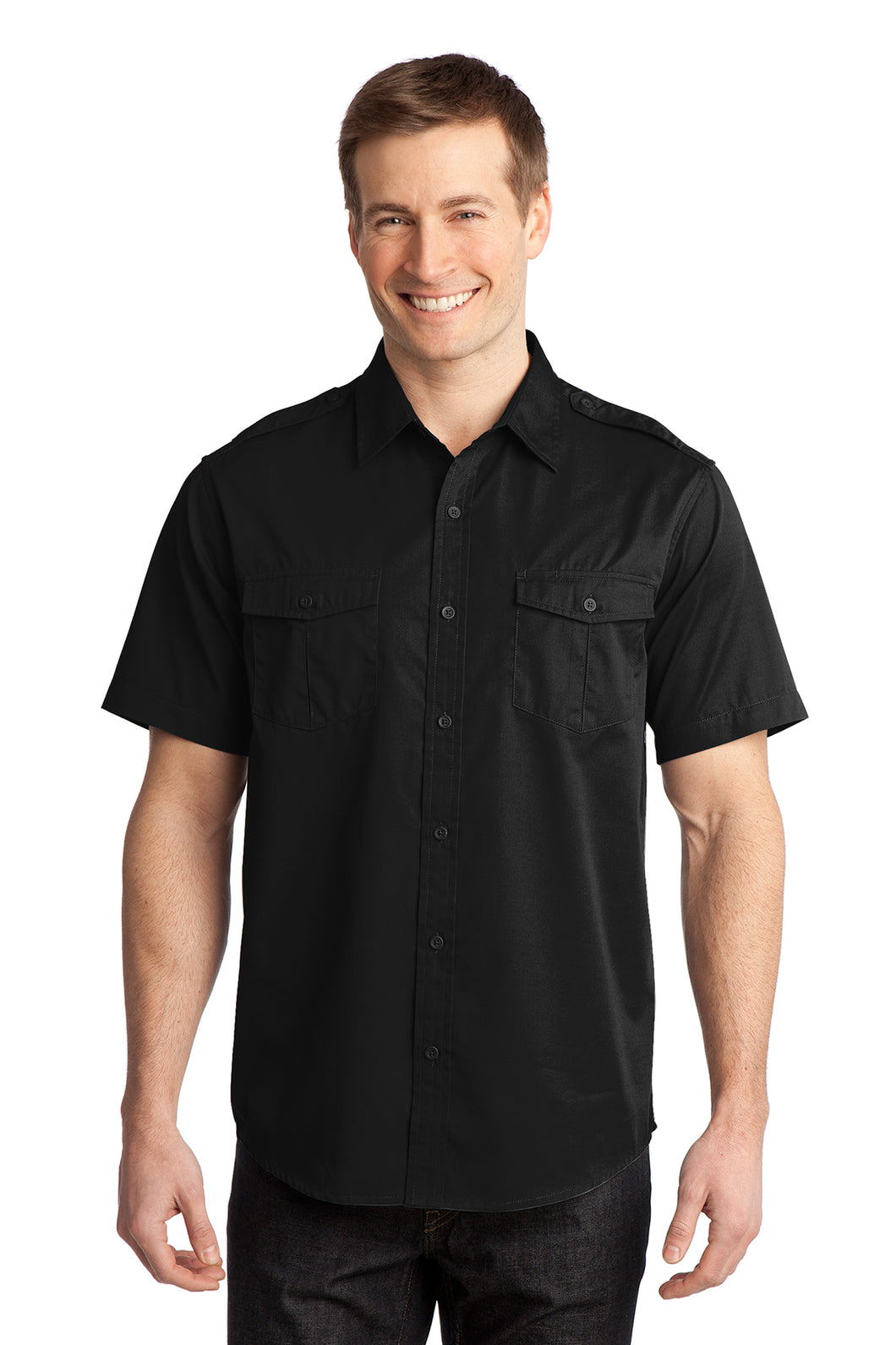 S648  Port Authority® Stain-Release Short Sleeve Twill Shirt