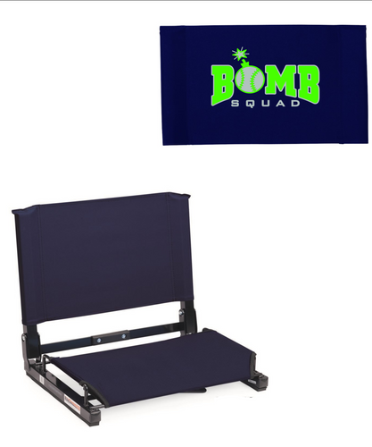 Bomb Squad- Folding Stadium Chair Seat