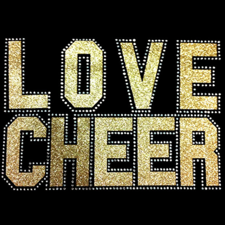 Ready to Press Transfer - Love Cheer Gold Mixed Media