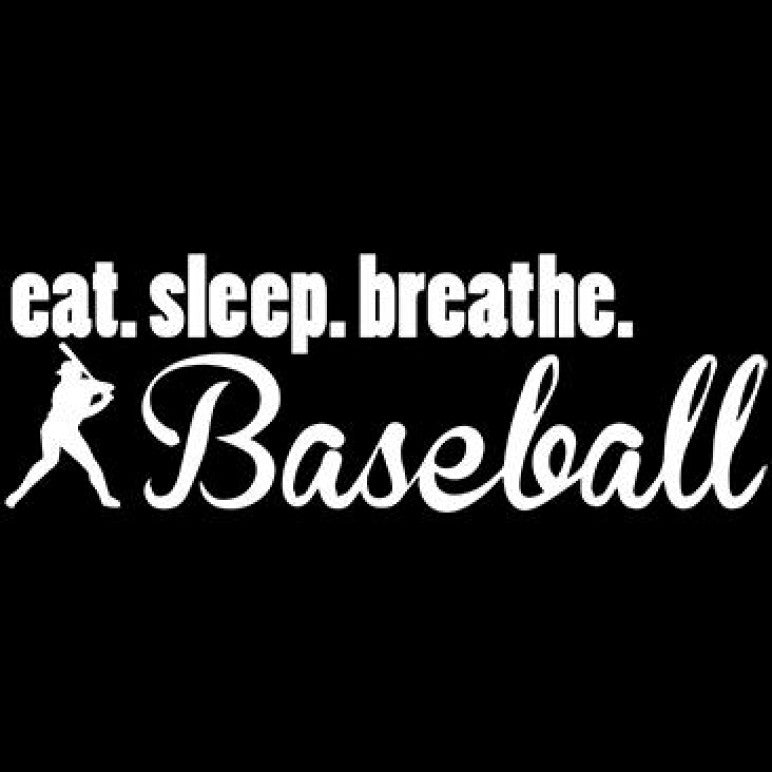 Ready to Press Transfer - Eat Sleep Baseball White