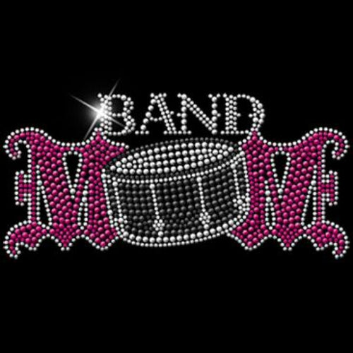 Ready to Press Transfer - Band Mom Rhinestuds