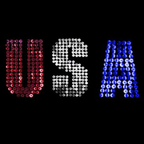 Ready to Press Transfer - Usa Sequin