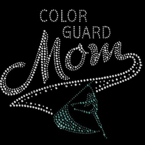 Ready to Press Transfer - Colorguard Mom Rhinestones
