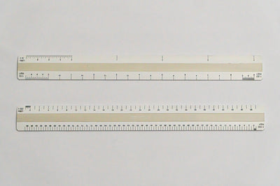 7112 Ratios: 1: 5, 10, 20, 50, 100 - Hand scale ruler, 300mm