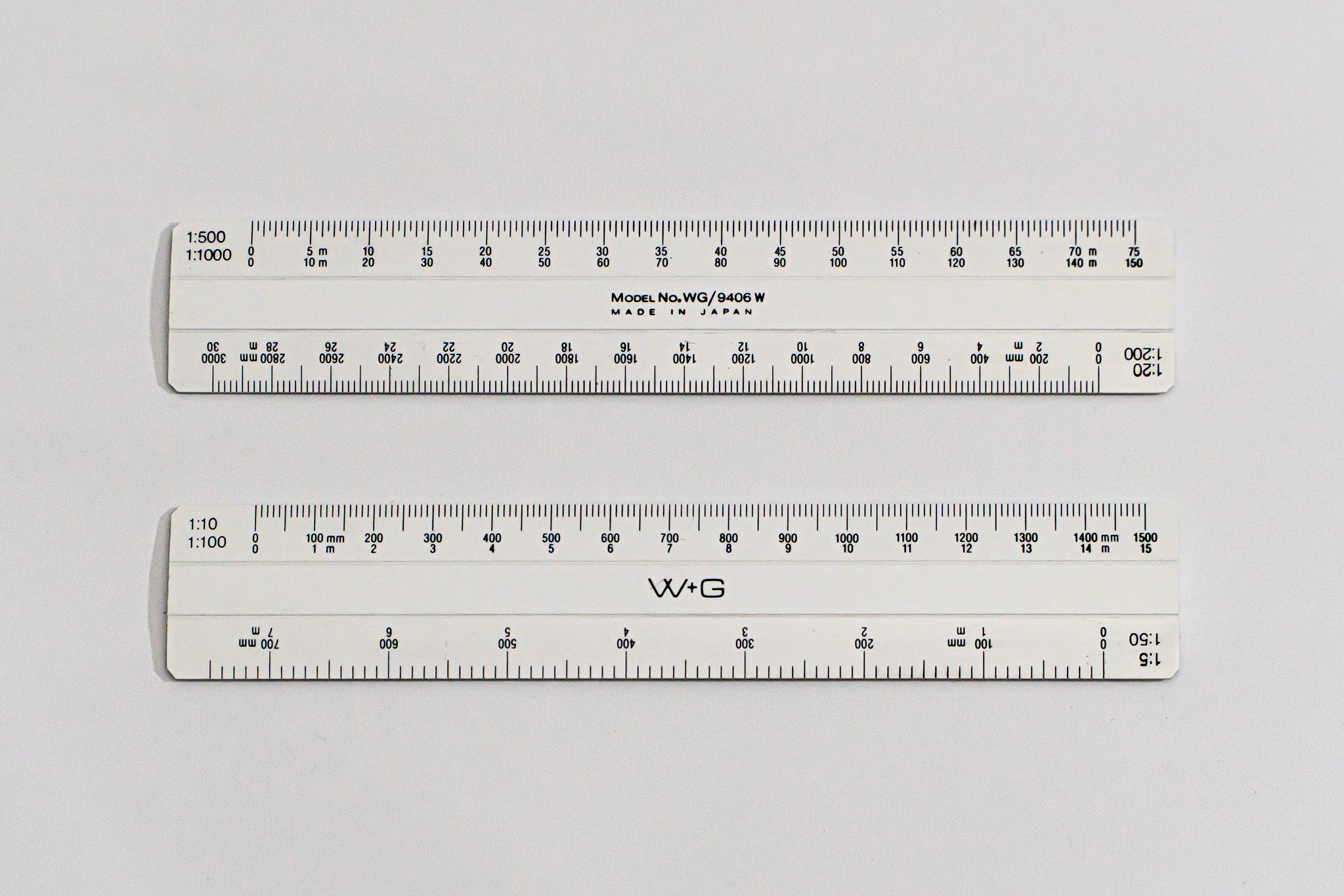 9406 Ratios: 1:5,10,20,50,100,200,500,1000 - Hand scale ruler, 150mm