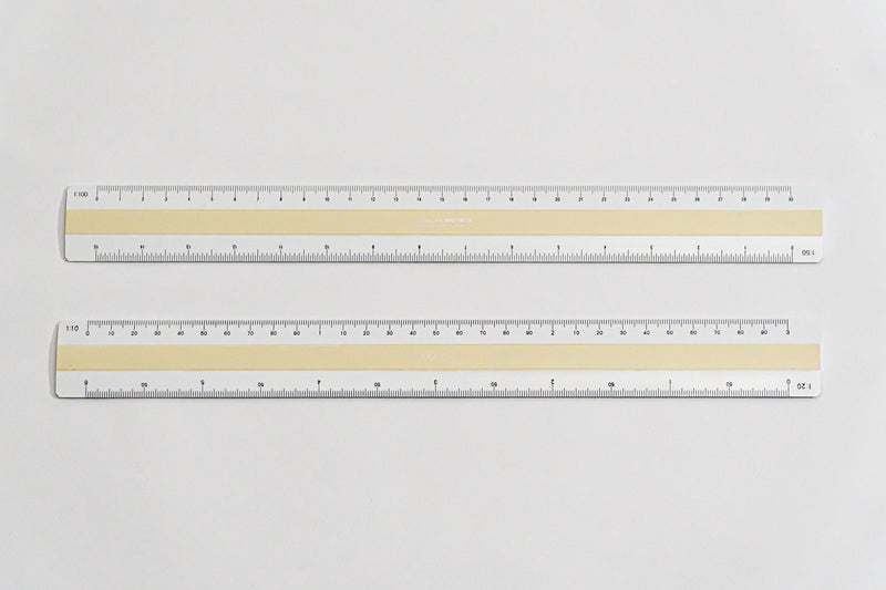 9812 Ratios: 1: 10,20,50,100 - Hand scale ruler, 300mm