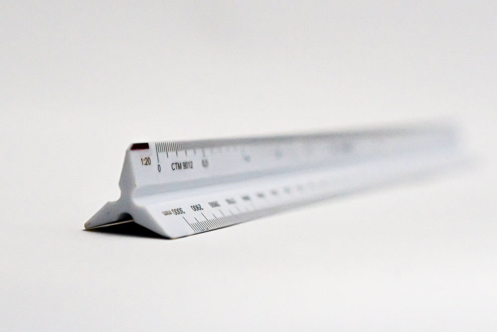 CTM9012 Ratios: 1: 2.5,5,10,20,50,100 - Hand scale ruler, 300mm