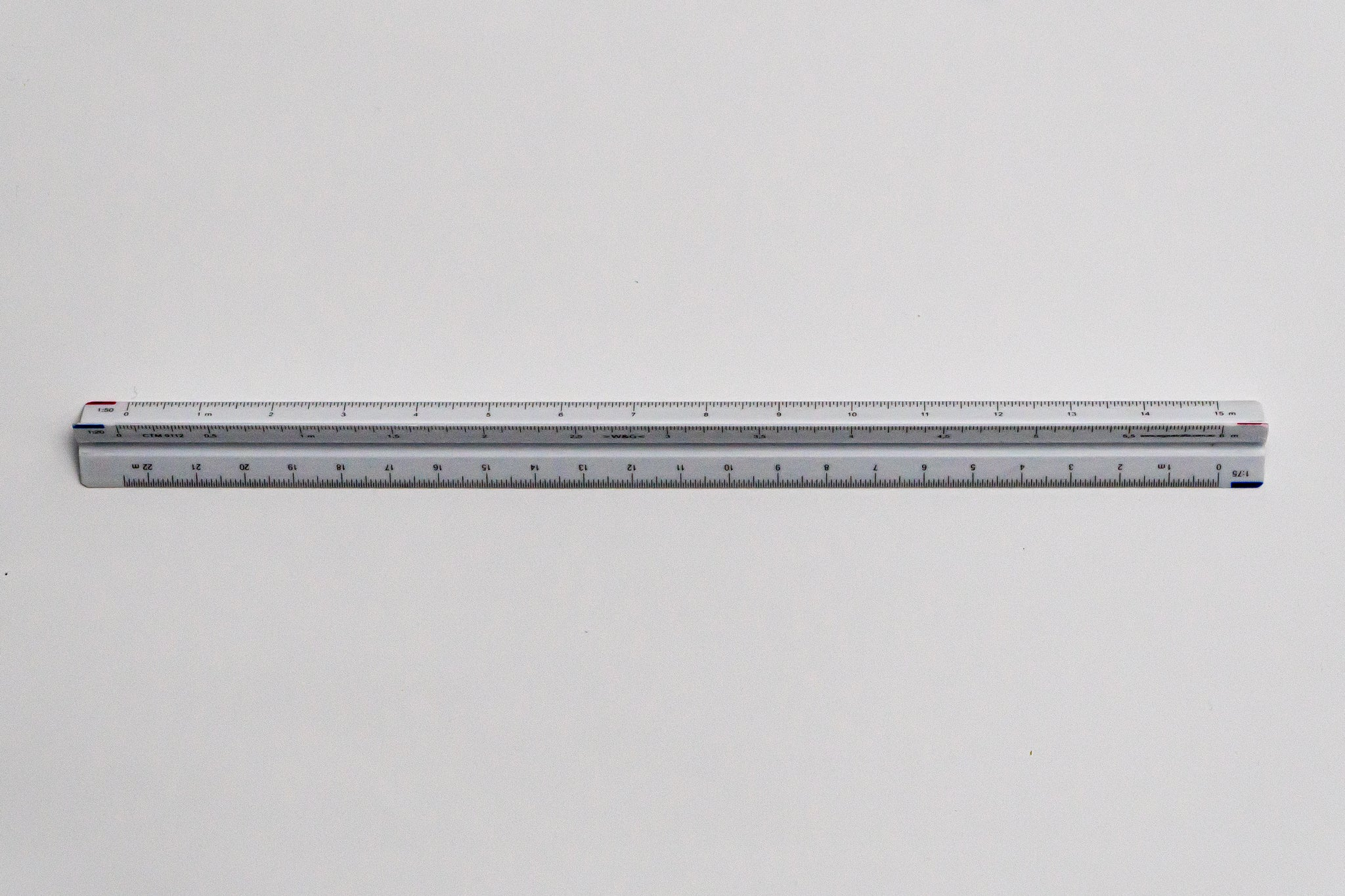 CTM9112 Ratios: 1: 20, 25, 50, 75, 100, 125 - Hand scale ruler, 300mm