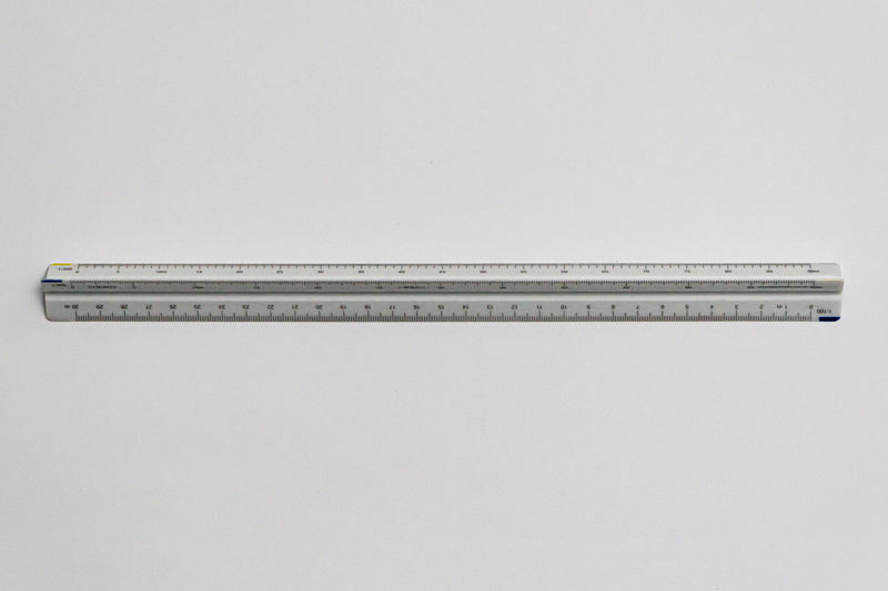 CTM9212 Ratios: 1: 100, 200, 250, 300, 400, 500 - Hand scale ruler, 300mm